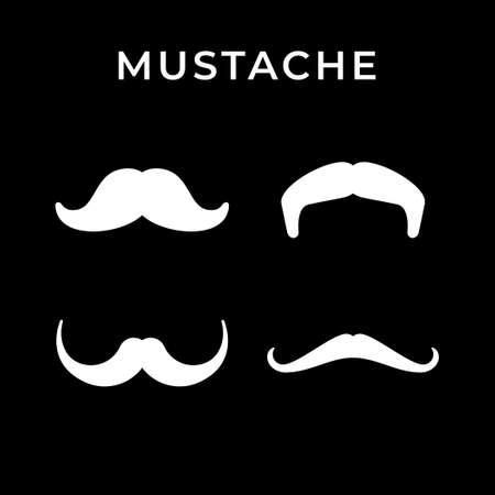 Set icons of retro mustache