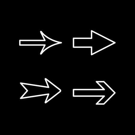 Set line icons of arrow