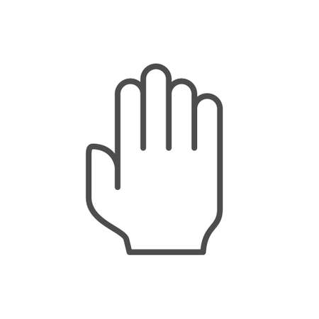 Palm of hand line outline icon Illustration