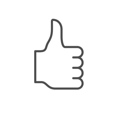 Thumb up line outline icon