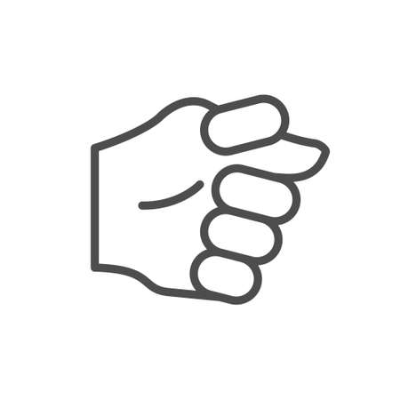 Fig gesture line outline icon Illustration