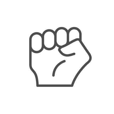 Fist or knuckle line outline icon