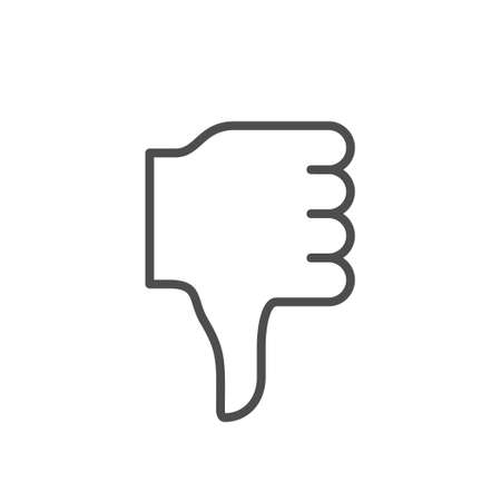 Thumb down line outline icon