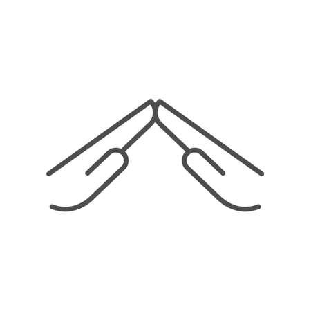 Defending gesture line outline icon