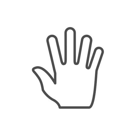 Palm or hand line outline icon