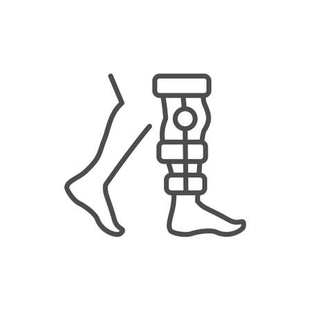 Physical therapy line outline icon
