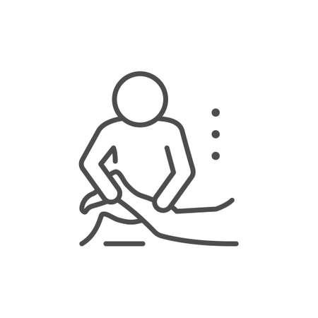 Massage procedure line outline icon