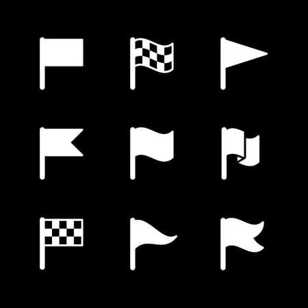 Set glyph icons of flag