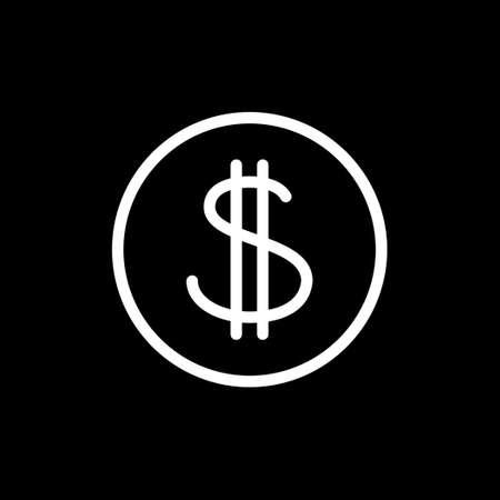 Dollar sign, cash and money symbol
