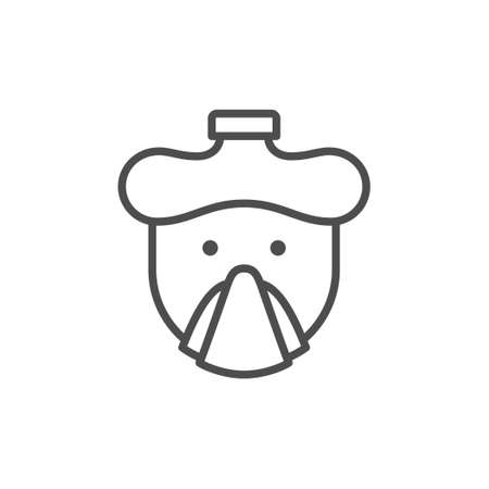 Cold or flu line outline icon