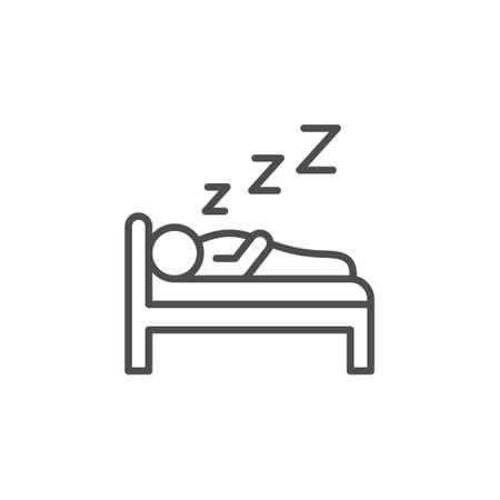 Sleeping or dream line outline icon Illustration