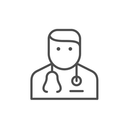 Doctor or medical specialist line outline icon