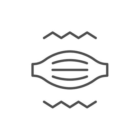 Muscle pain line outline icon Illustration
