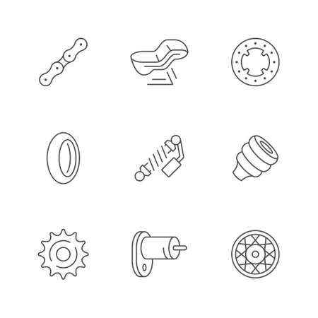 Set line icons of motorcycle parts Stock fotó - 157034079