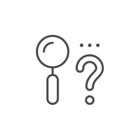 Finding solution line outline icon Vettoriali