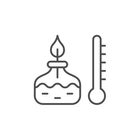 Chemical burner line outline icon