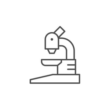 Microscope line icon or science concept Illustration
