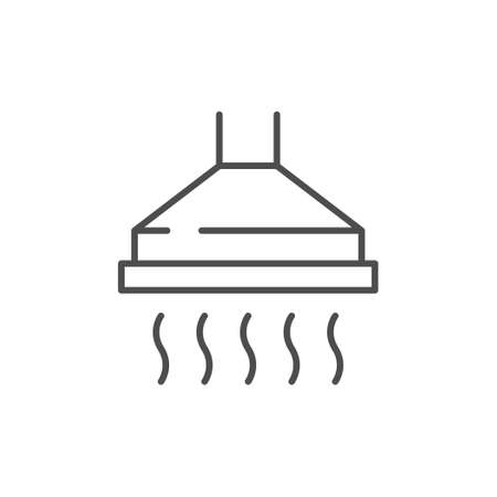 Cooker hood line outline icon