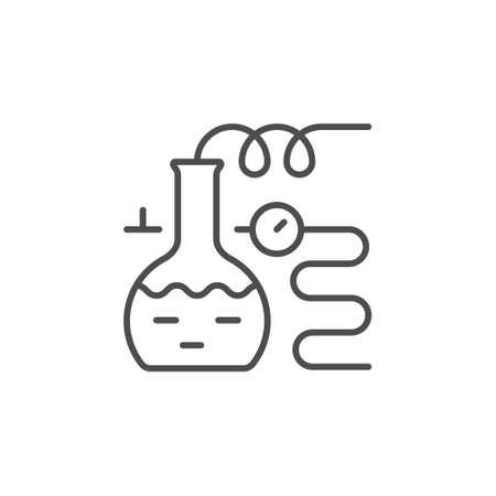 Chemical equipment line outline icon Illustration