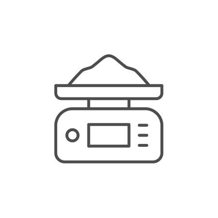 Digital weights line outline icon