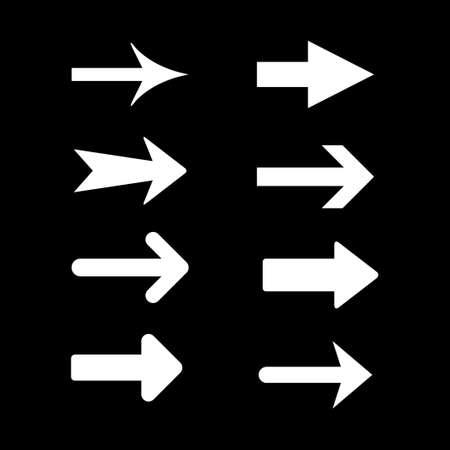 Set modern icons of arrow