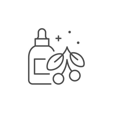 Organic cosmetic line outline icon