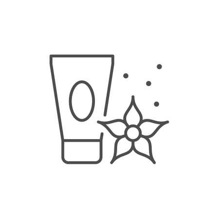 Organic cream line outline icon