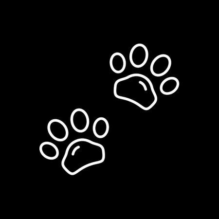 Animal paws line outline icon