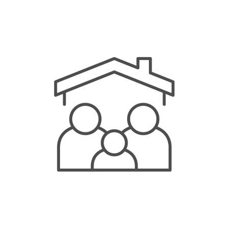 Family home line outline icon 矢量图像