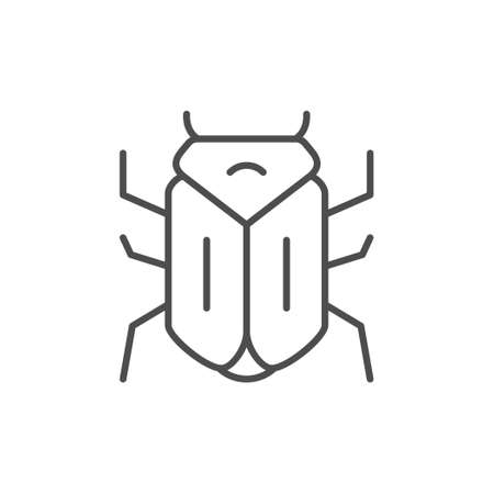 Bug line outline icon or insect concept