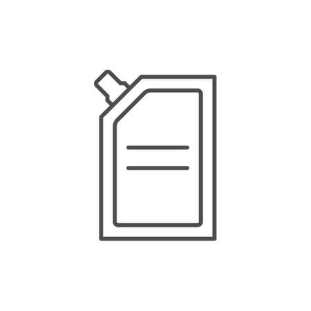 Doy pack package line outline icon