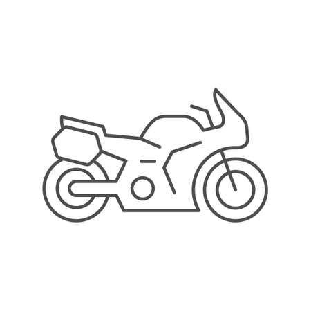 Sport touring motorcycle line outline icon