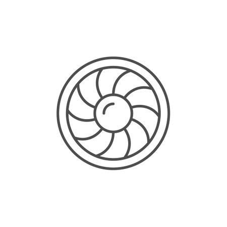 Industrial fan line outline icon