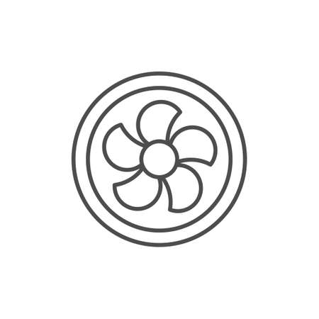 Ventilation fan line outline icon Stock Illustratie