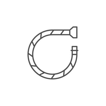 Flexible water tube line outline icon