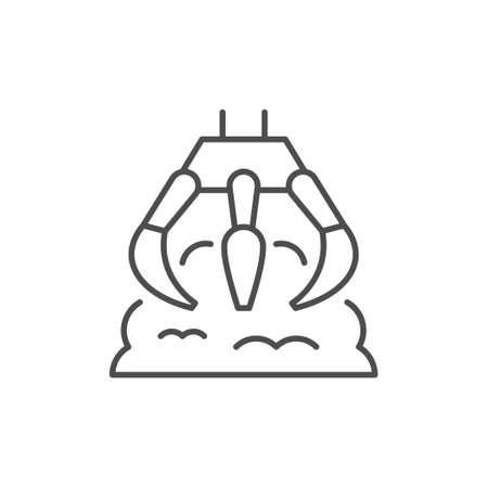 Robotic claw line outline icon Vektoros illusztráció
