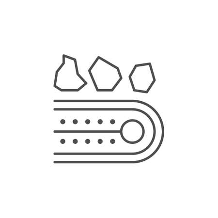Conveyor belt line outline icon