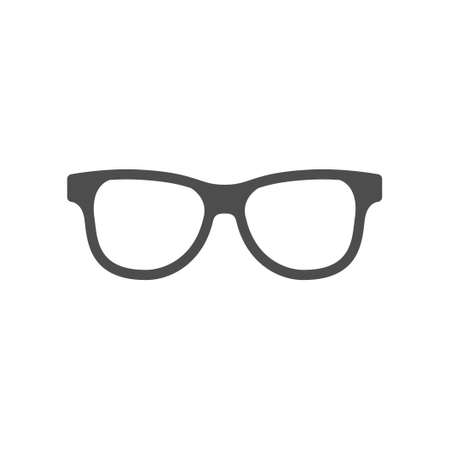 Classic eyeglasses icon or spectacle frame silhouette