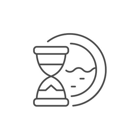 Washing time line outline icon