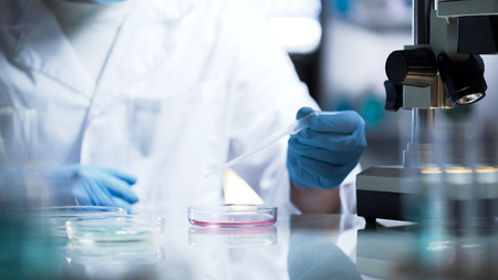 Chemical lab developing new substance for production of household chemicals 版權商用圖片