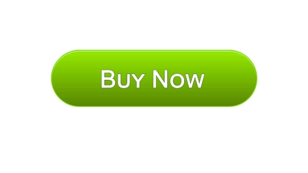 Buy now web interface button green color, customer decision, tourism, credit, stock footage Stock Photo - 97823166
