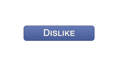 Dislike web interface button violet color, social network application, online, stock footage