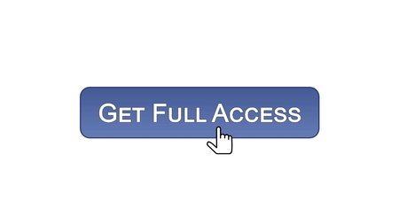 Get full access web interface button clicked with mouse cursor, violet color, stock footage