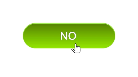 No web interface button clicked with mouse cursor, green color, application, stock footage