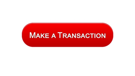 Make a transaction web interface button red color, online bank application, stock footage