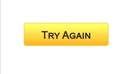 Try again web interface button orange color, internet site design, support , stock footage Stock fotó