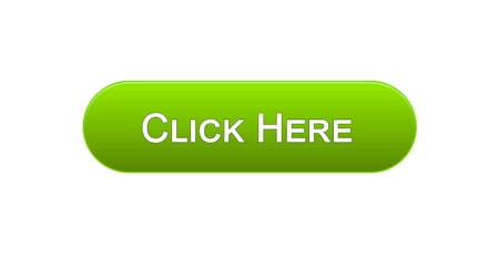 Click here web interface button green color, browsing web-site, advertising, stock footage