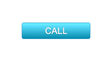 Call web interface button blue color, consultant assistance, technical support, stock footage Фото со стока