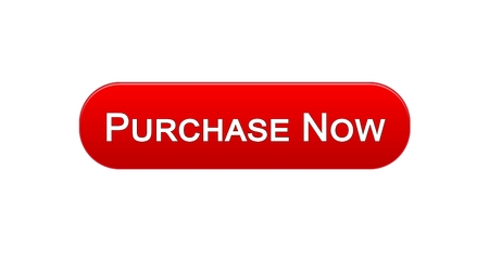 Purchase now web interface button red color, online shopping service, marketing, stock footage Фото со стока
