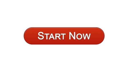 Start now web interface button wine red color, business development, innovation, stock footage